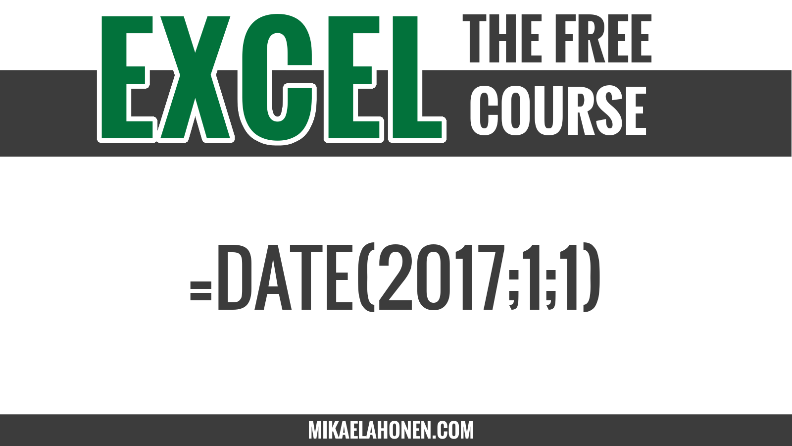 Lecture 5 - Number formats, dates and time in Excel
