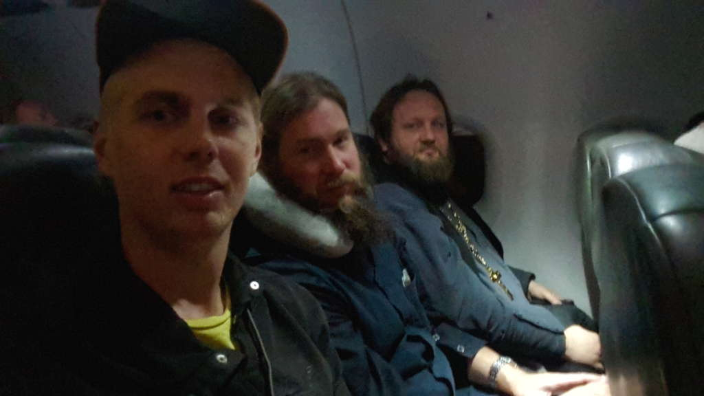 Russian priests in Sydney-Christchurch plane